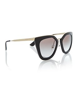 Black cat eye PR 53SS sunglasses