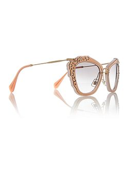 Pink cat eye MU 04QS sunglasses