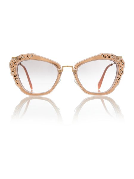 Miu Miu Pink cat eye MU 04QS sunglasses