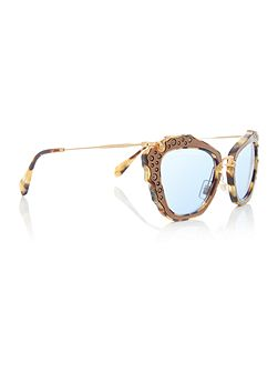 Havana cat eye MU 04QS sunglasses