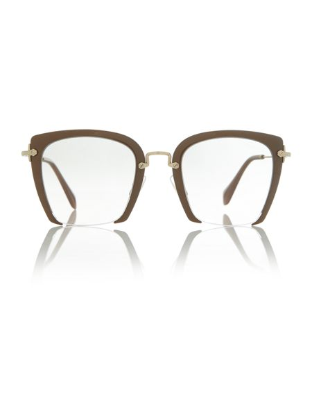 Miu Miu Light Brown square MU 52RS sunglasses
