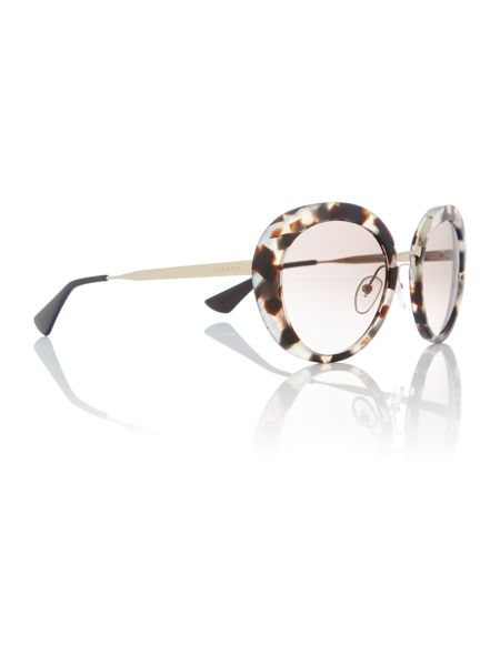 Prada Sunglasses Brown round PR 16QS sunglasses