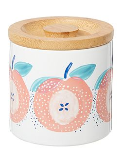 Apples & pears small storage jar