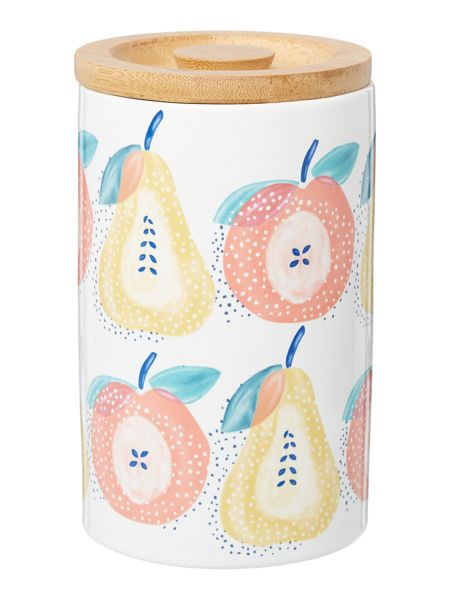 Dickins & Jones Apples & pears large storage jar