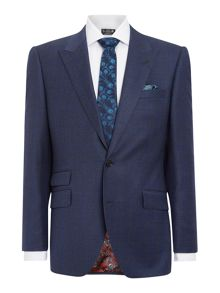 New & Lingwood Reading SB2 check peak lapel suit jacket