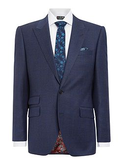 Reading SB2 check peak lapel suit jacket