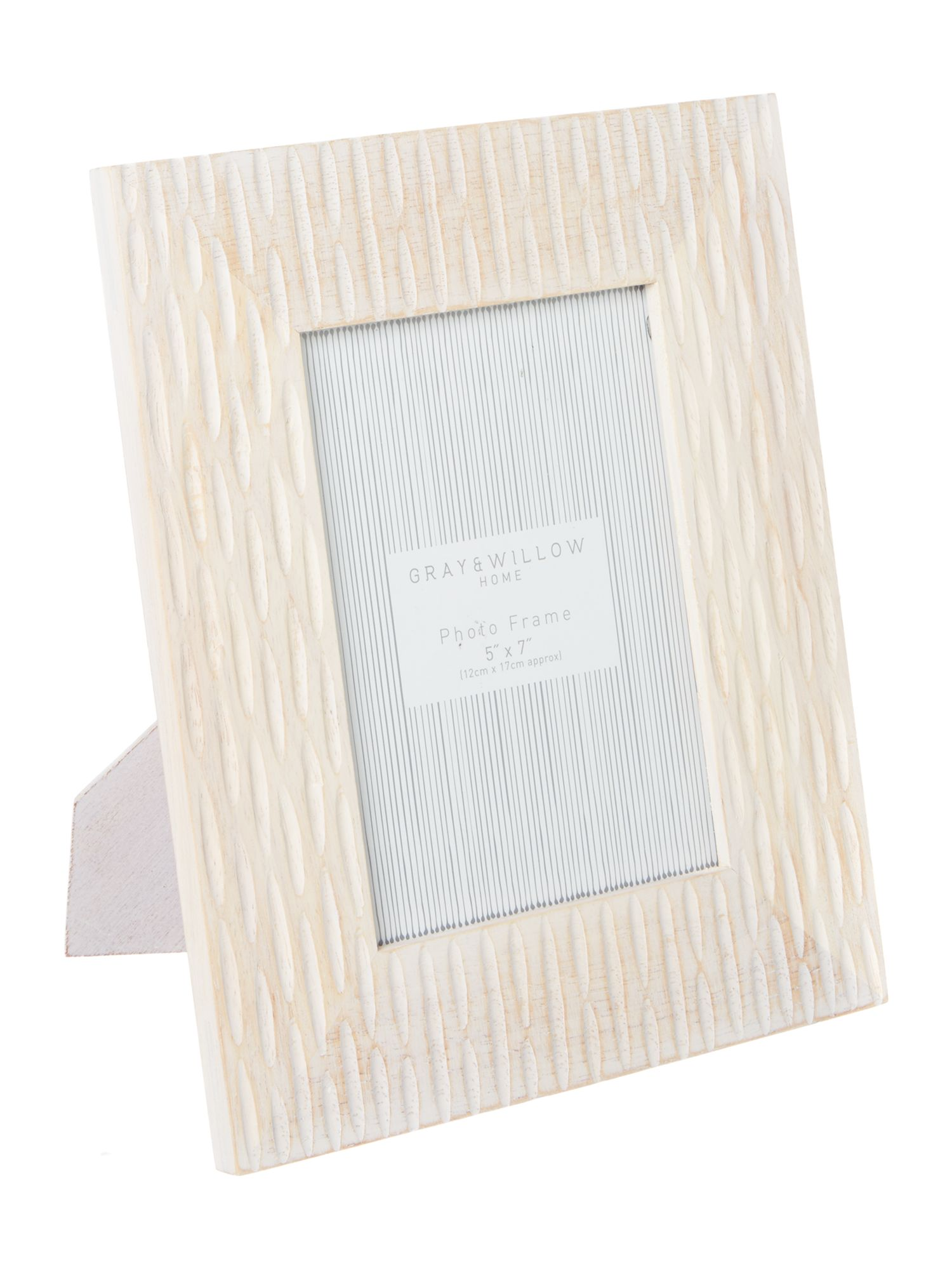 Gray & Willow Gray & Willow White Wash Carved Frames 5x7