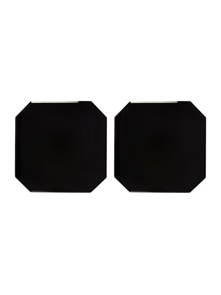Linea Black glass placemat set of 2