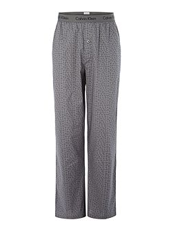 Connection print pyjama pant