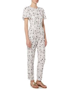 Girls on Film Chloe Lewis 1/4 Sleeve Print Jumpsuit