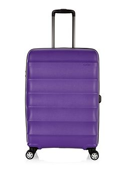 Juno purple 4 wheel medium suitcase