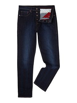 Tapered Five Pocket Jeans