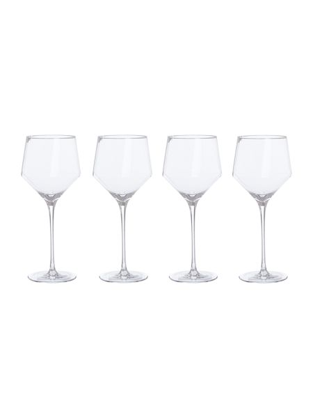 Living by Christiane Lemieux Hexaganol Wine Glass Set Of 4