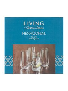 Living by Christiane Lemieux Hexaganol Hiball Set Of 4
