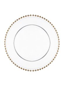 Biba Beaded Glass Charger Plate
