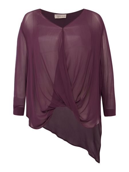 Label Lab Plus size cross over berry blouse