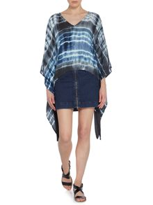 Label Lab Denim skirt with front zip detail