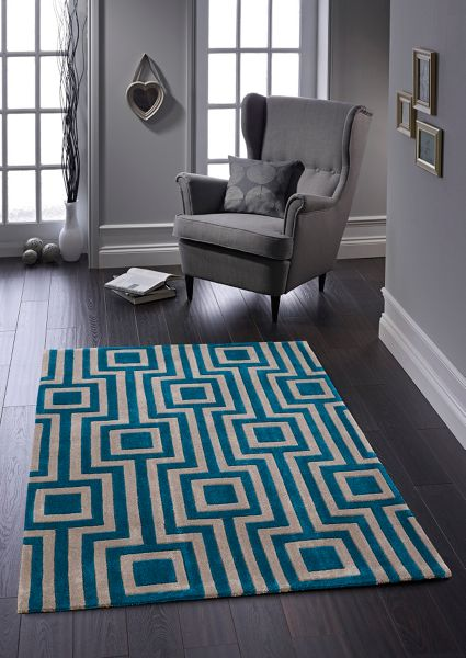 Origin Rugs Blue & Grey Geo Rug 120/170