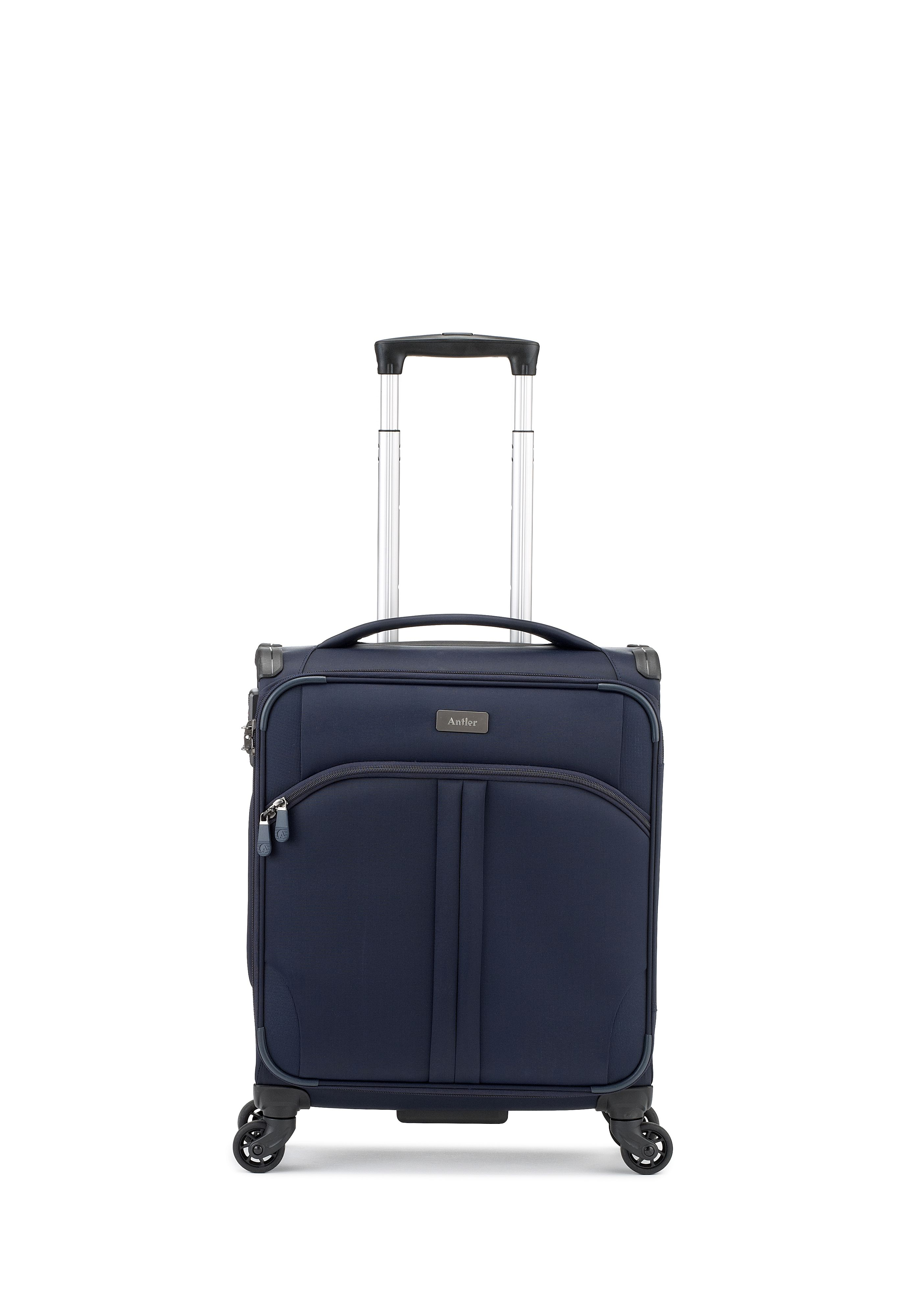 Antler Aire navy 4 wheel soft cabin suitcase Navy