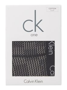 Calvin Klein One grid print cotton trunk