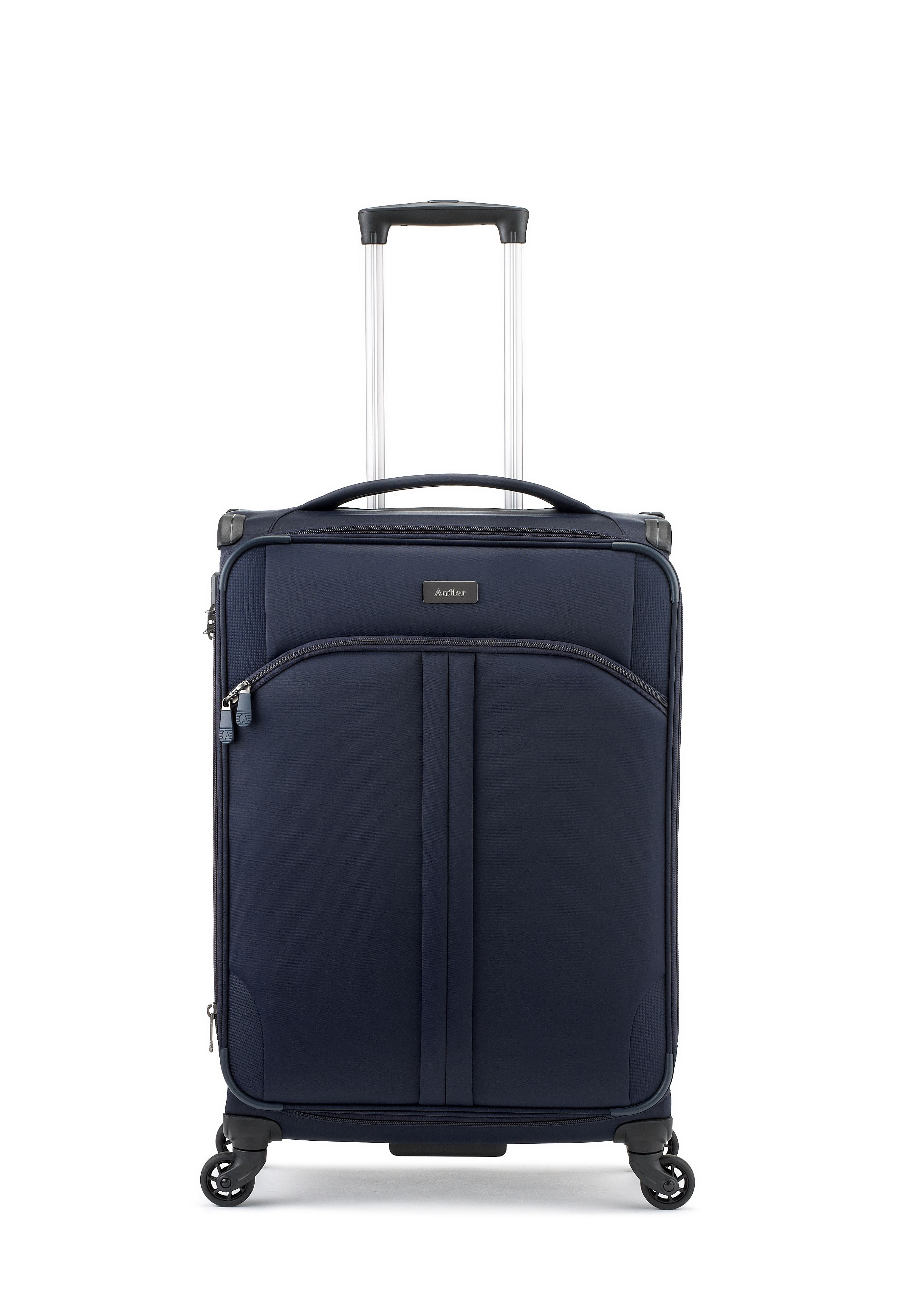Antler Aire navy 4 wheel soft medium suitcase Navy