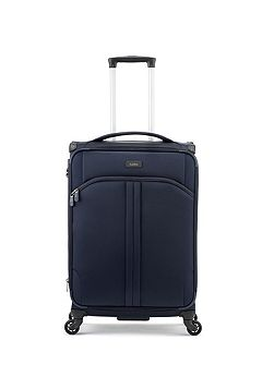 Aire navy 4 wheel soft medium suitcase