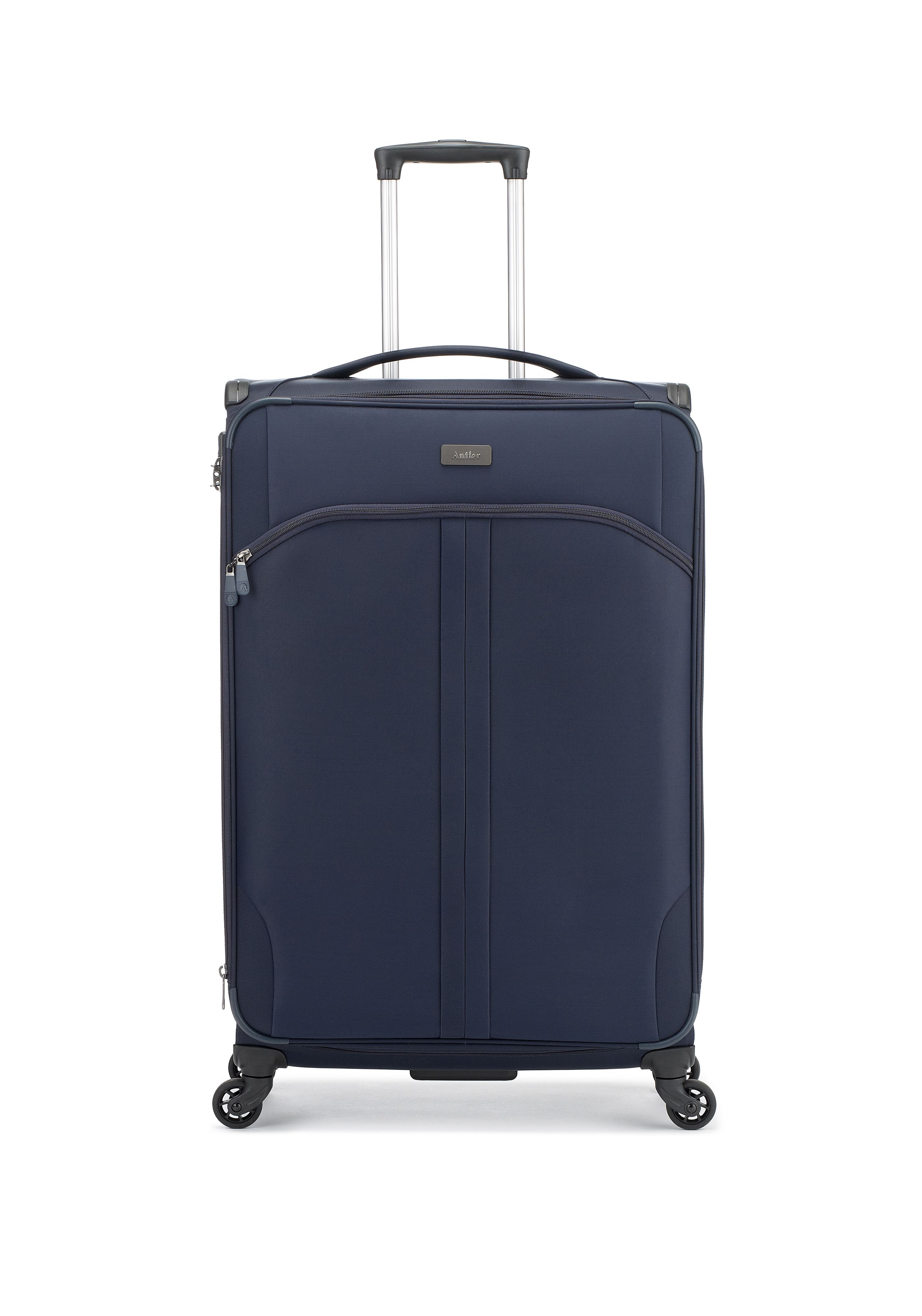 Antler Aire navy 4 wheel soft large suitcase Navy