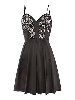 Ariana Grande Fit & Flare Lace Body Dress