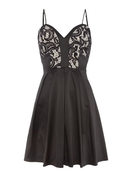 Lipsy Ariana Grande Fit & Flare Lace Body Dress