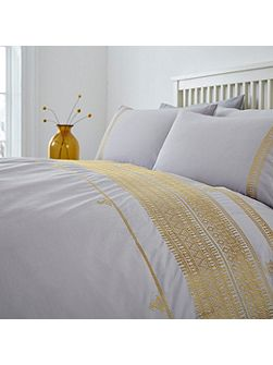 Global artisan embroidery duvet cover set