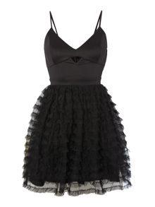 Lipsy Ariana Grande Sleeveless Cutout Fit & Flare Dress