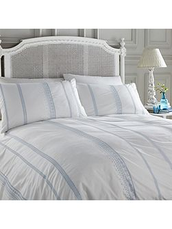 Blue embroidery duvet cover