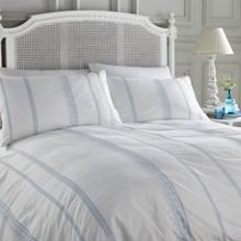 Shabby Chic Blue Embroidery bed linen range