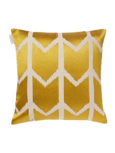 Living by Christiane Lemieux Chevron embroidered cushion