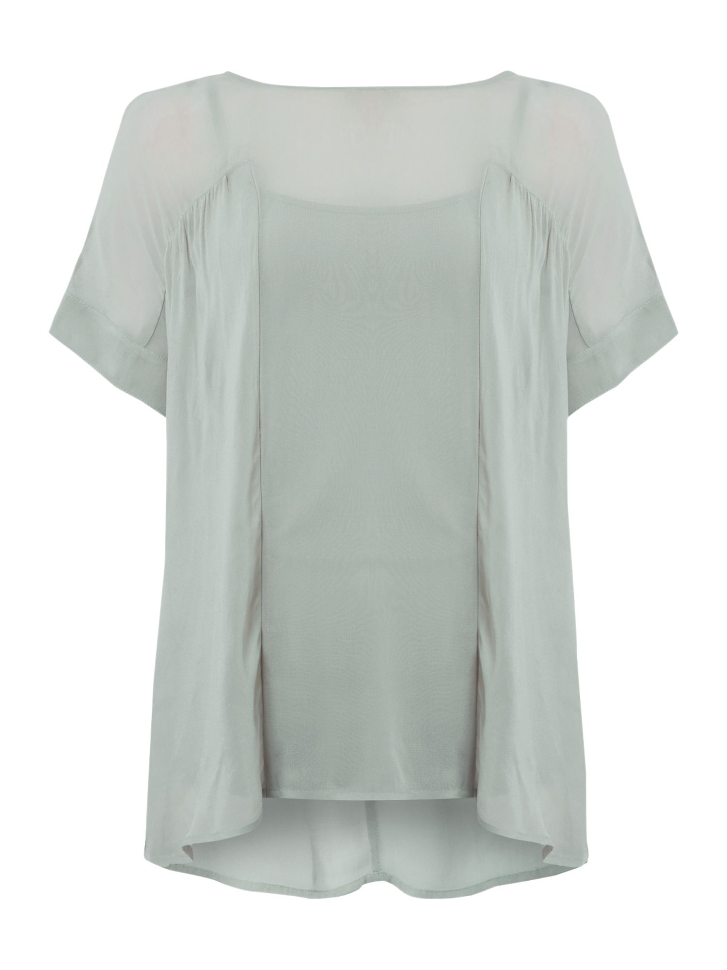 Gray & Willow Gray & Willow Ekenas ruched detail top, Sage