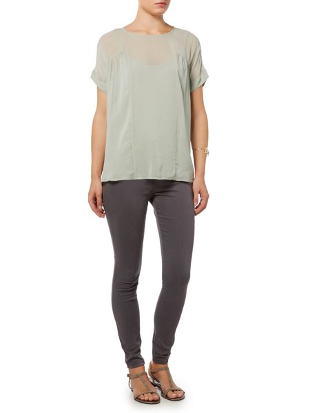 Gray & Willow Ekenas ruched detail top