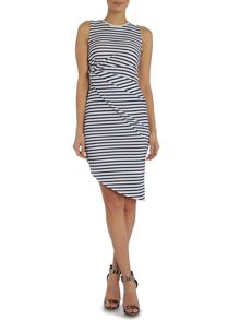Wal-G Sleeveless Knot Stripe Dress