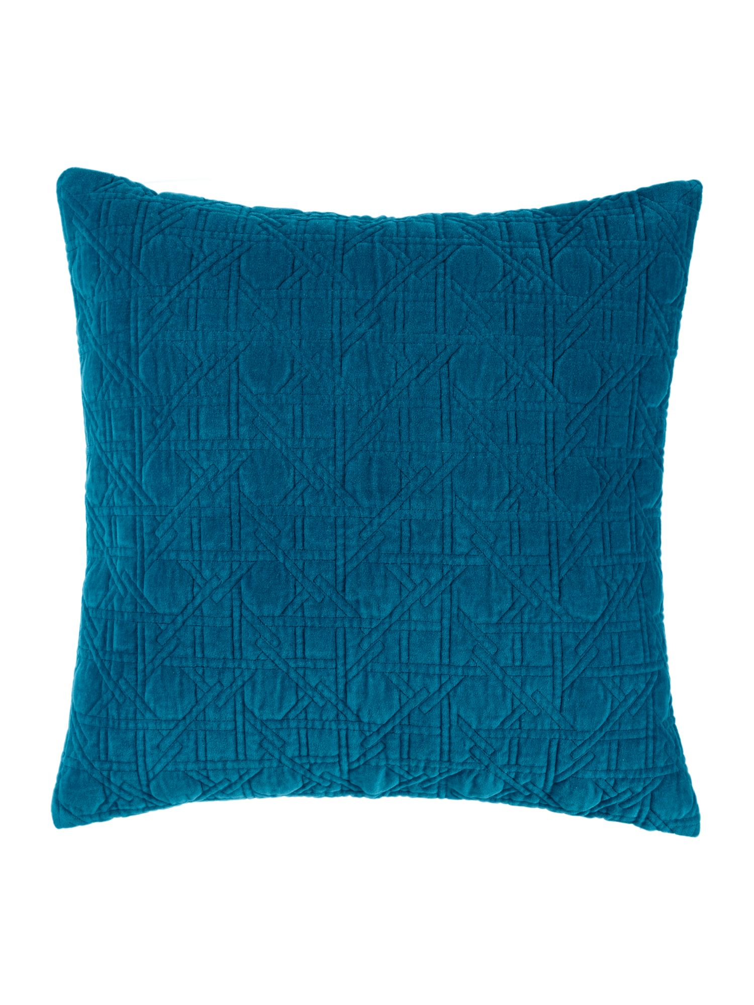Living by Christiane Lemieux Living by Christiane Lemieux Geometric design velvet sham, teal