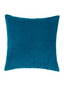 Living by Christiane Lemieux Geometric design velvet sham, teal