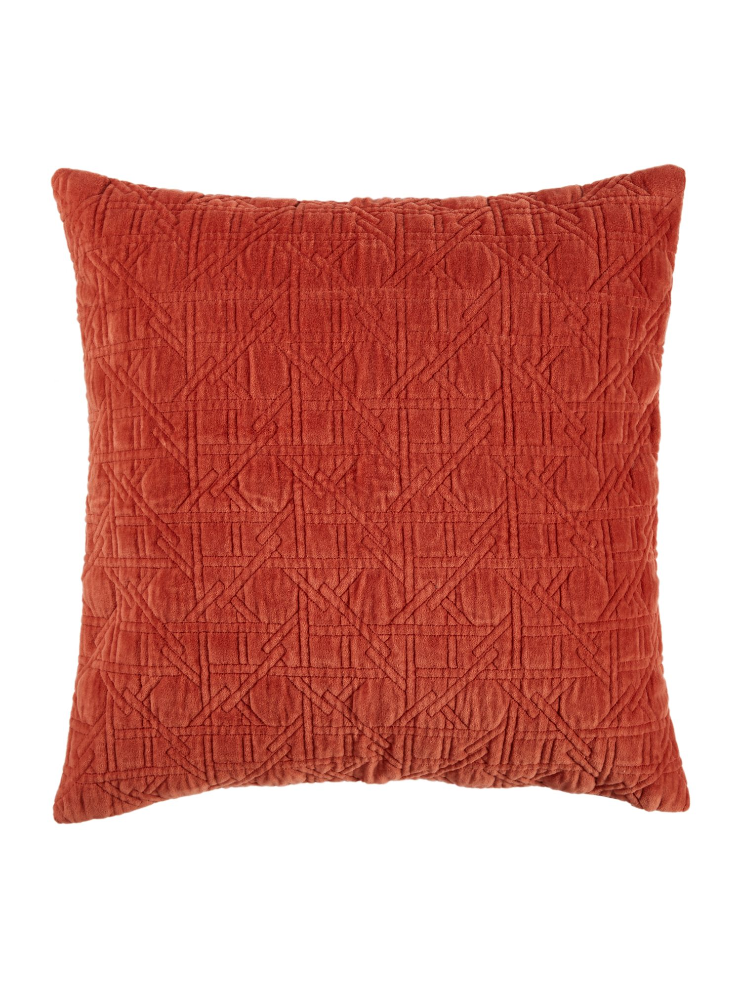 Living by Christiane Lemieux Living by Christiane Lemieux Geometric design velvet sham, rust