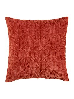 Geometric design velvet sham, rust