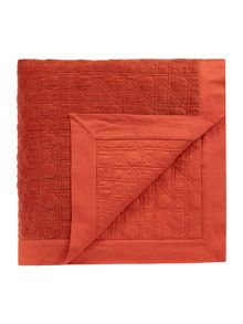 Living by Christiane Lemieux Geometric design velvet bedspread, rust