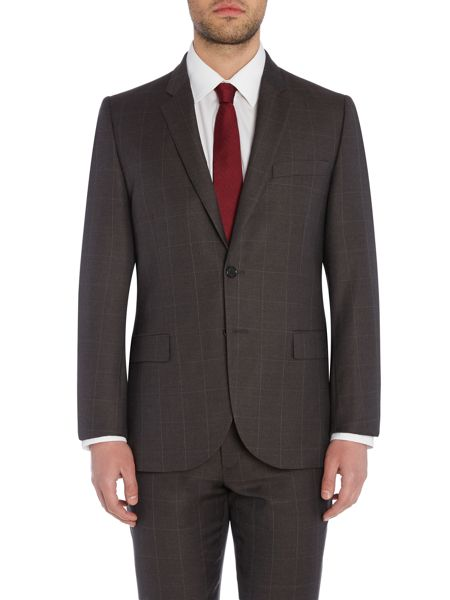 PS By Paul Smith Notch Windowpane Check Suit Jacket