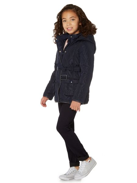 Little Dickins & Jones Girls Quilted jacket with hood
