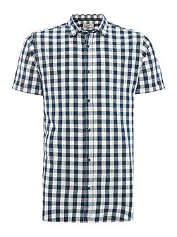 Checked Button Through Short Sleeve Shirt