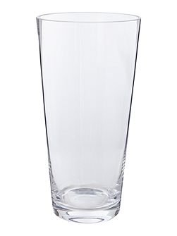 Cylindrical clear glass vase 30cm