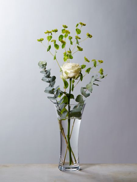 Linea Flare clear vase 25cm