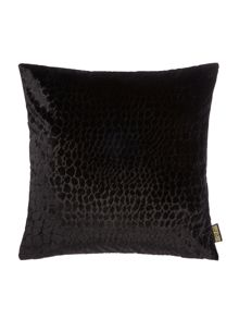 Biba Leopard jacquard cushion, black