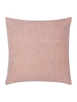 Bright boucle cushion, coral