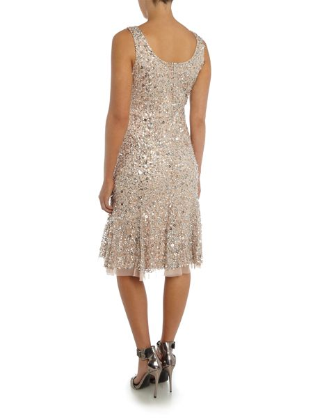 Adrianna Papell All over beaded sleeveless dress